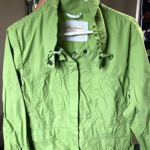 Womans Eddie Bauer hip length spring trench